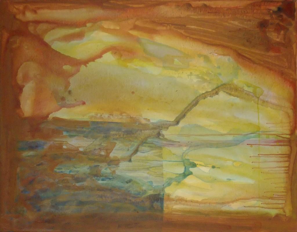 2012 Brown River 90 x 70 cm