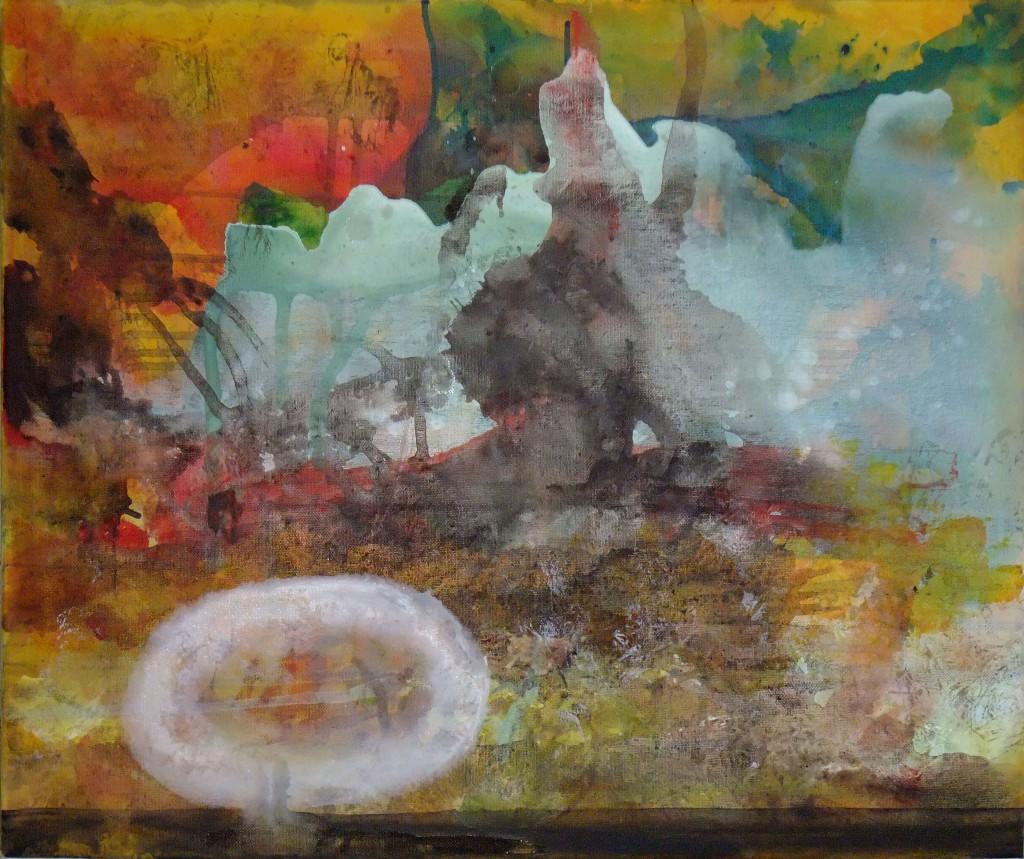 2013 Young White Virus 50 x 40 cm