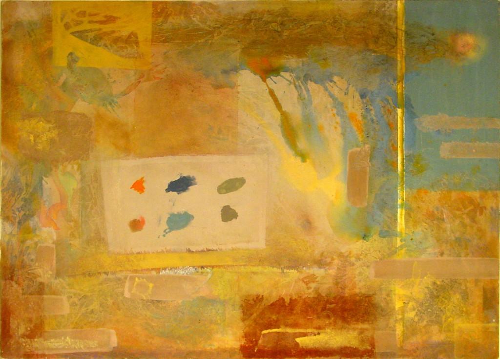 1997 Sechs Tupfer 140 x 100 cm