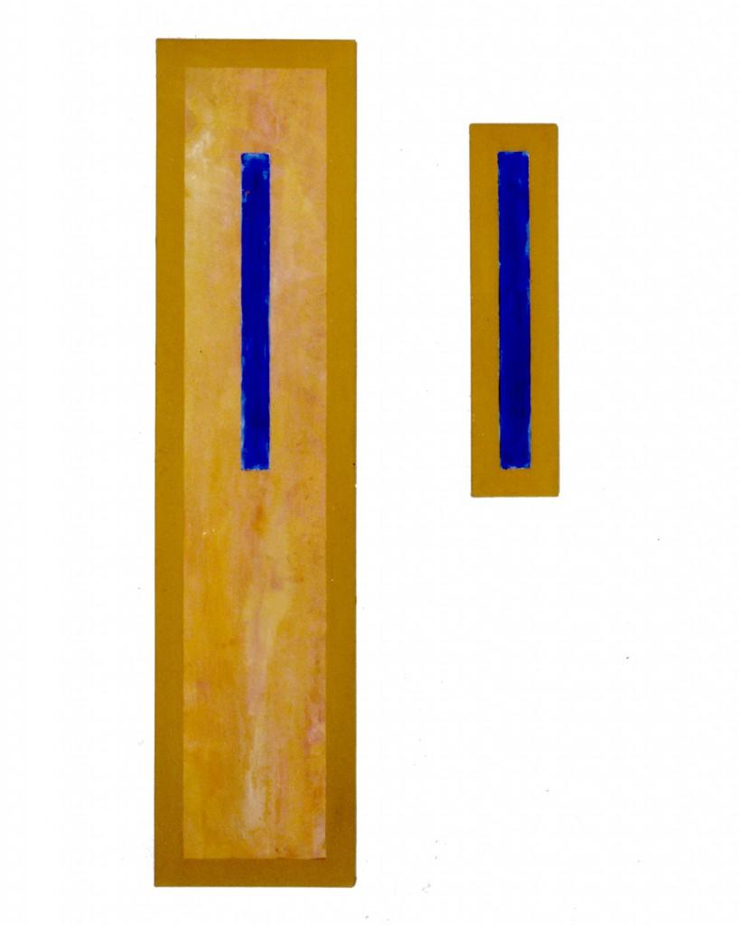 1990 Der Atmen 50 x 170 cm, acrylics