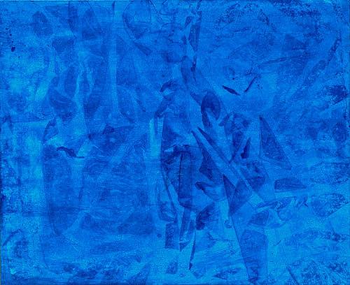 2008 Blaues Bild 100 x 80 cm