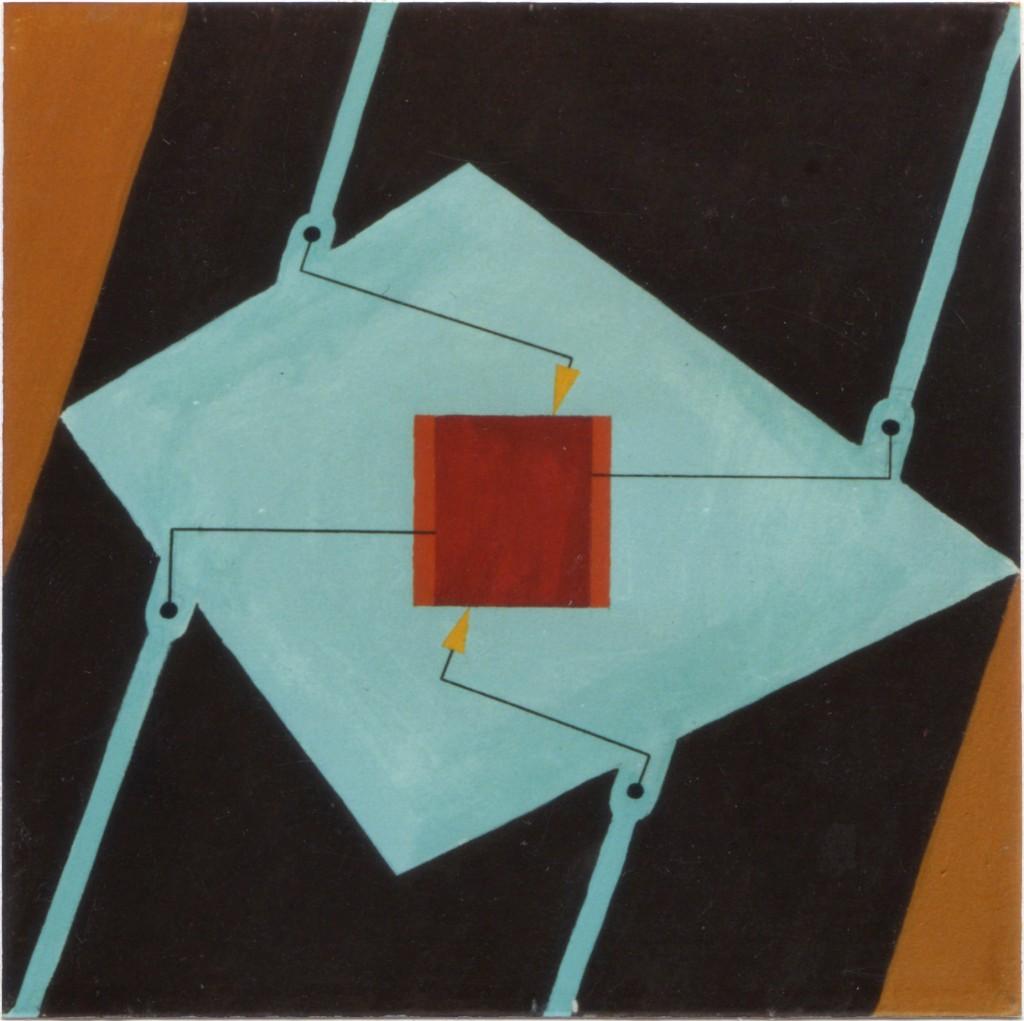 1998 Das gequälte Quadrat 50 x 50 cm