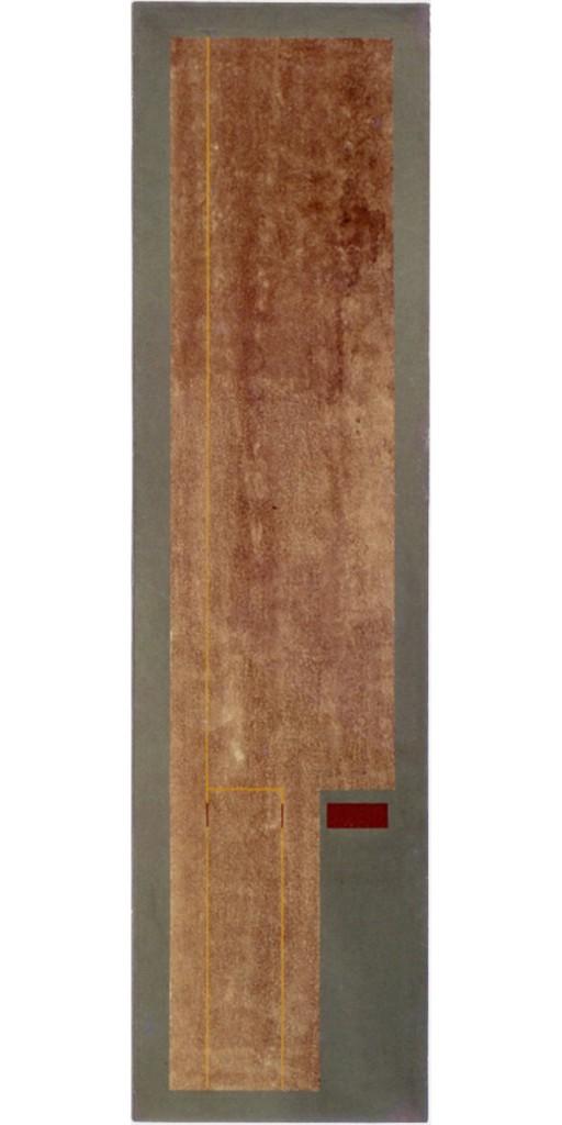 2002 Yellow Lines 170 x 40 cm