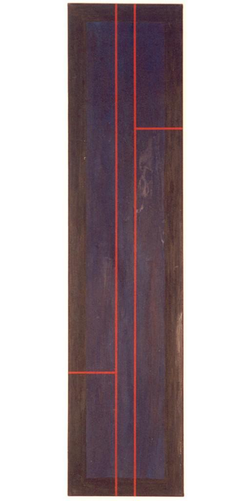 2002 Rote Linien 40 x 170 cm