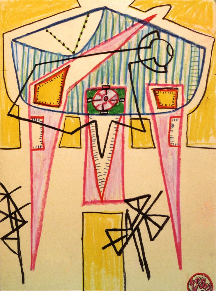 1985 Drawing DIN A3, crayon on cardboard
