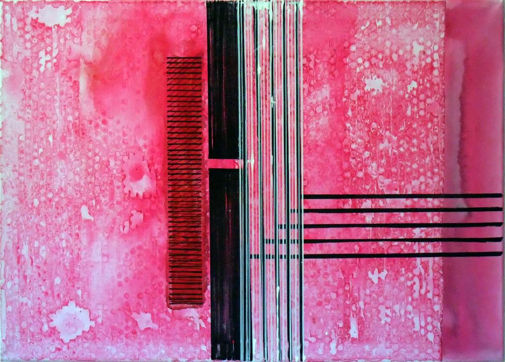 Pink Terror 70 x 50 cm