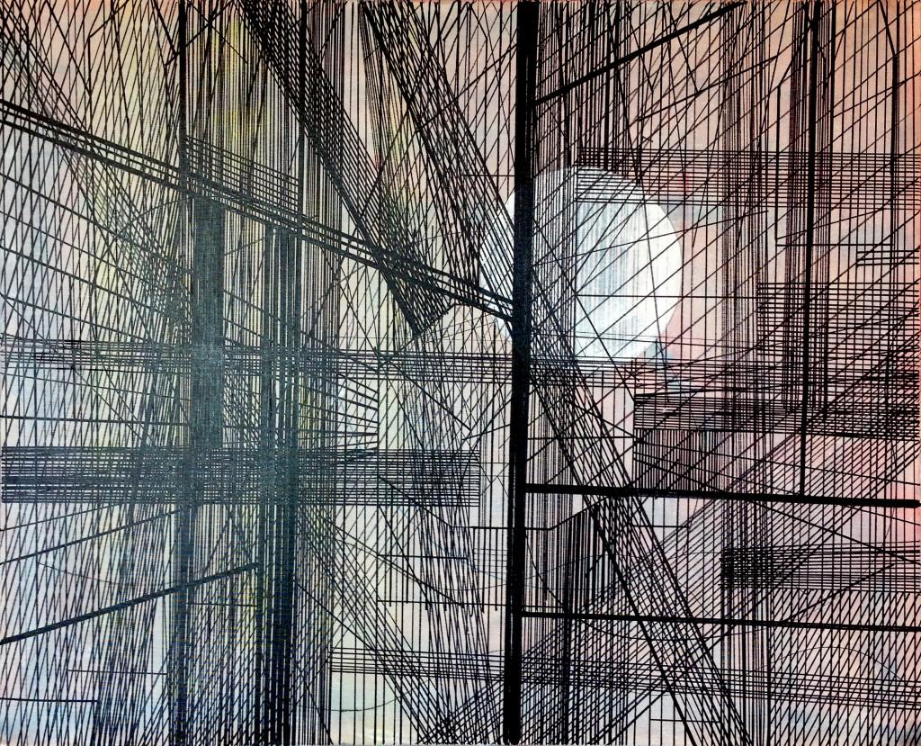 Verschiedene Streifzüge, 100 x 80 cm